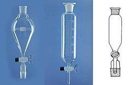 Imbuti gocciolatori forma unificata, con tappo su cono superiore, rubinetto maschio vetro, vetro Duran